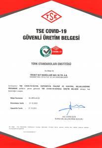 Teksüt TSE Covid-19 Güvenli Üretim Belgesi